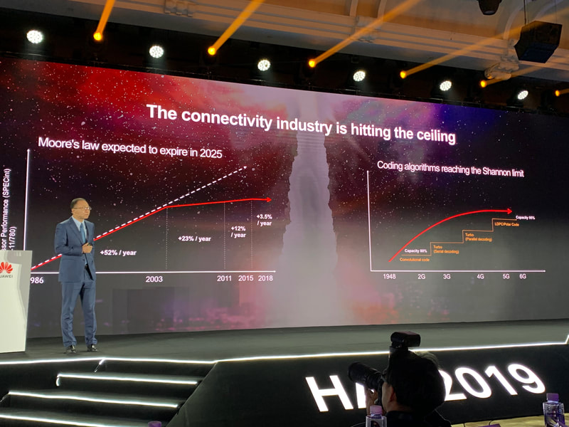 Huawei HAS2019 presentation about Moore's Law and Shannon Limit