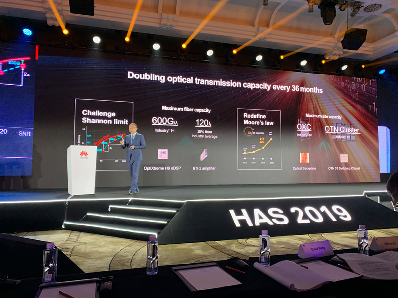 Huawei OptiXtreme H6 oDSP for optical transmission at HAS2019