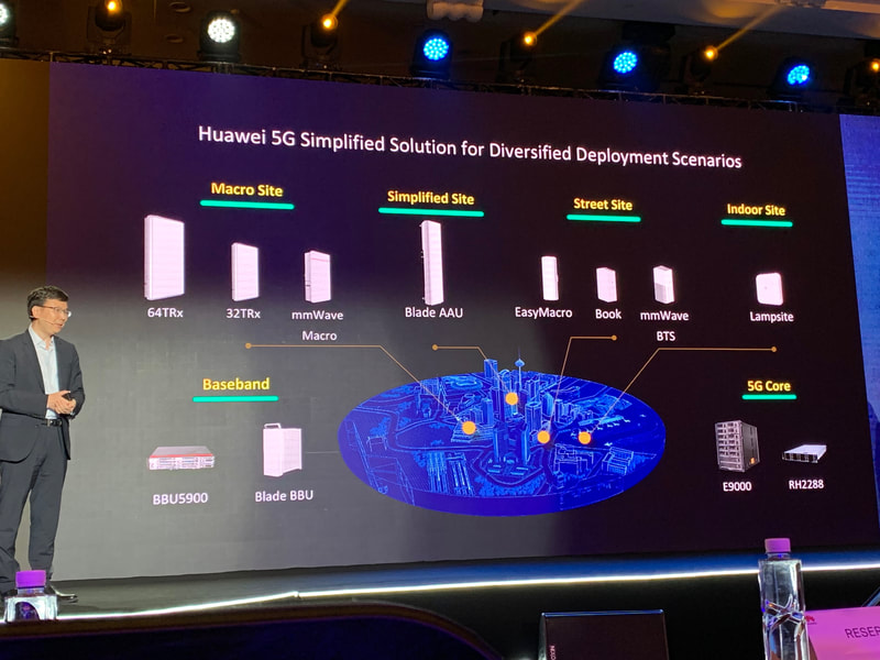 Huawei 5G baseband, 5G Core and antenna product line at HAS2019