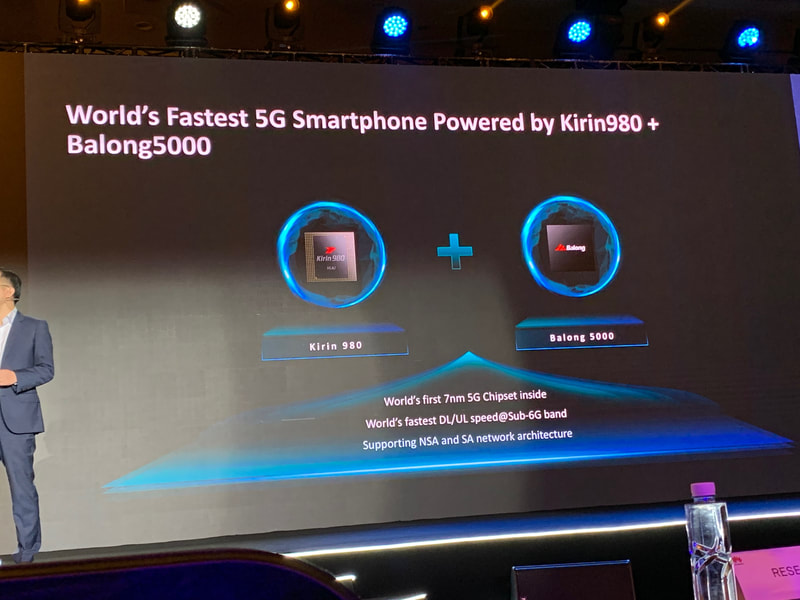Huawei Kirin 980 and Balong 5000 7nm 5G chipset for smartphones at HAS2019