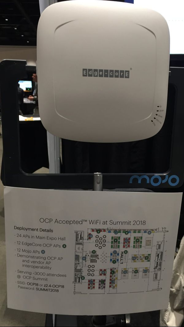 Mojo Networks OCP Accepted WiFi demonstration at ocpsummit18